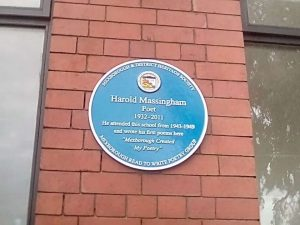Unveiling Harold Massingham Plaque at Mexborough Business Centre