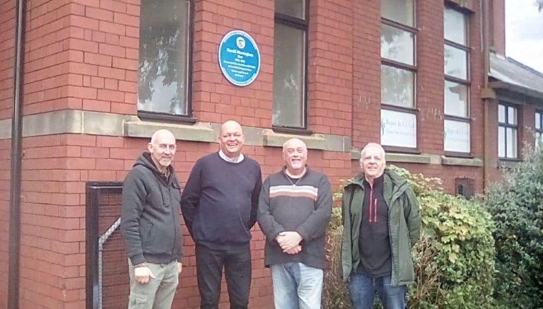 Unveiling Harold Massingham Plaque at Mexborough Business Centre